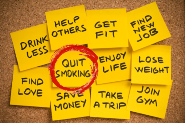 quit smoking highlighted in list of new years resolutions